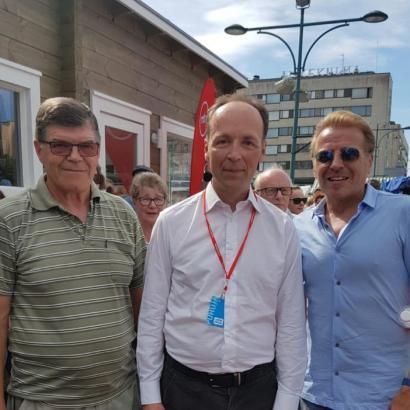Jussin ja Simon kanssa Porissa.